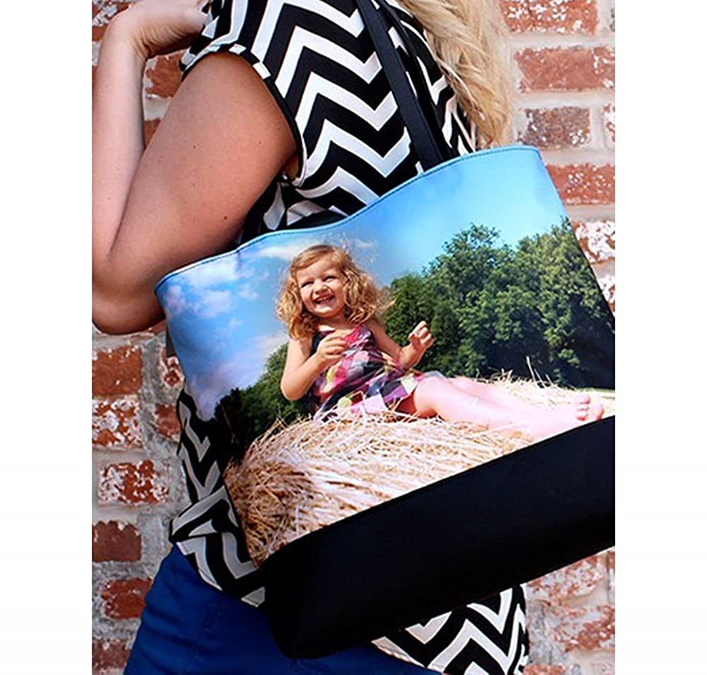 Front Regular Personalized Hockey Beach Tote Bag