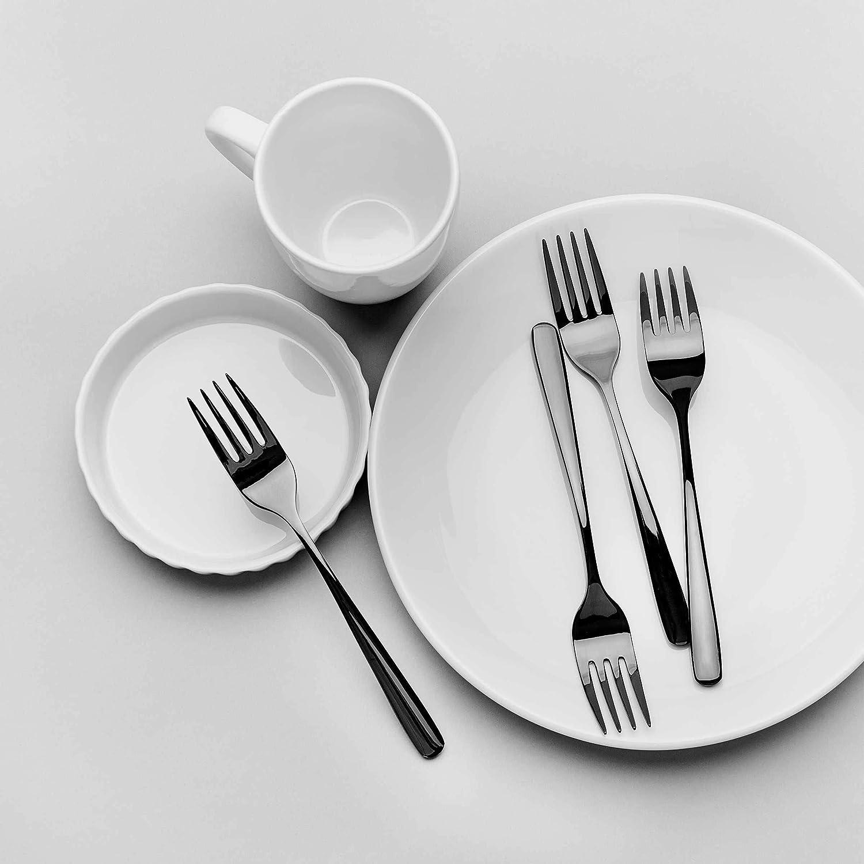 kleine Gabeln aus Edelstahl f/ür Kuchen oder Deserts Butlers QUEENS Kuchengabeln 4er-Set in Schwarz weitere Farben