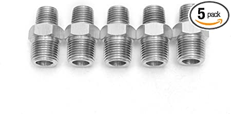 "316 Stainless Steel Pipe Nipple 3//8/"" X 3/"" Pack of 25"