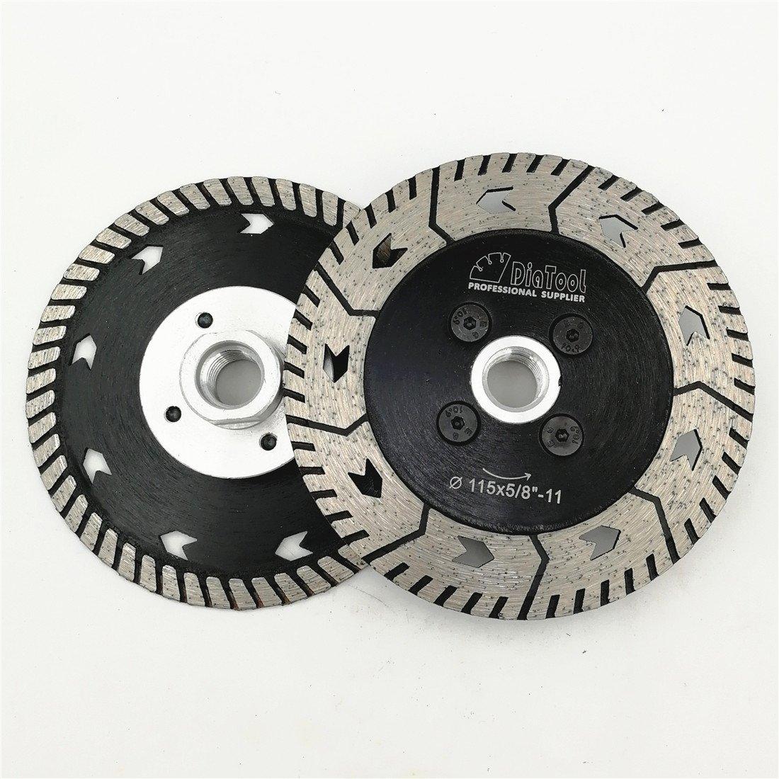 LTD. DIATOOL Diamond Grindng wheel Disc 2pcs 5 inches Cut Grind Sharpen Granite Dual Blades SHANGHAI DIATOOL CO