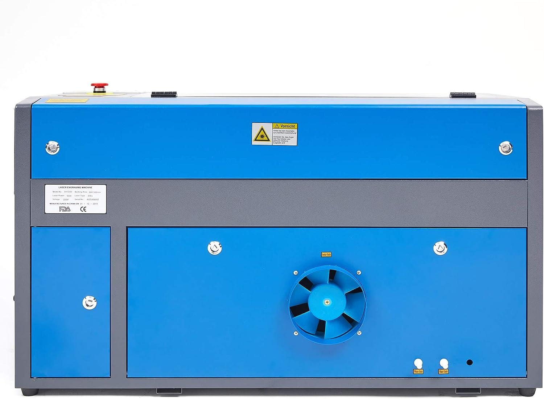 60W Z ZELUS 60W M/áquina de Grabado L/áser 500 x 700 MM M/áquina de Grabador L/áser de CO2 M/áquina de Corte L/áser LCD Digital Puerto USB Software RDWorks Bomba de Aire