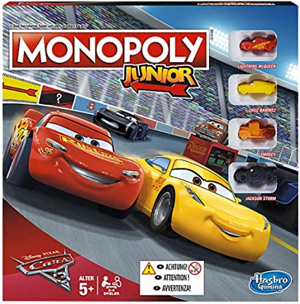 Hasbro Monopoly Junior Cars 3 Niños Simulación económica - Juego de Tablero (Simulación económica, Niños, Niño/niña, 5 año(s), Francés, Francés): Amazon.es: Juguetes y juegos