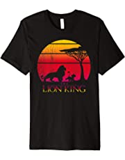 Disney Lion King Vintage Sunset Logo Graphic T-Shirt