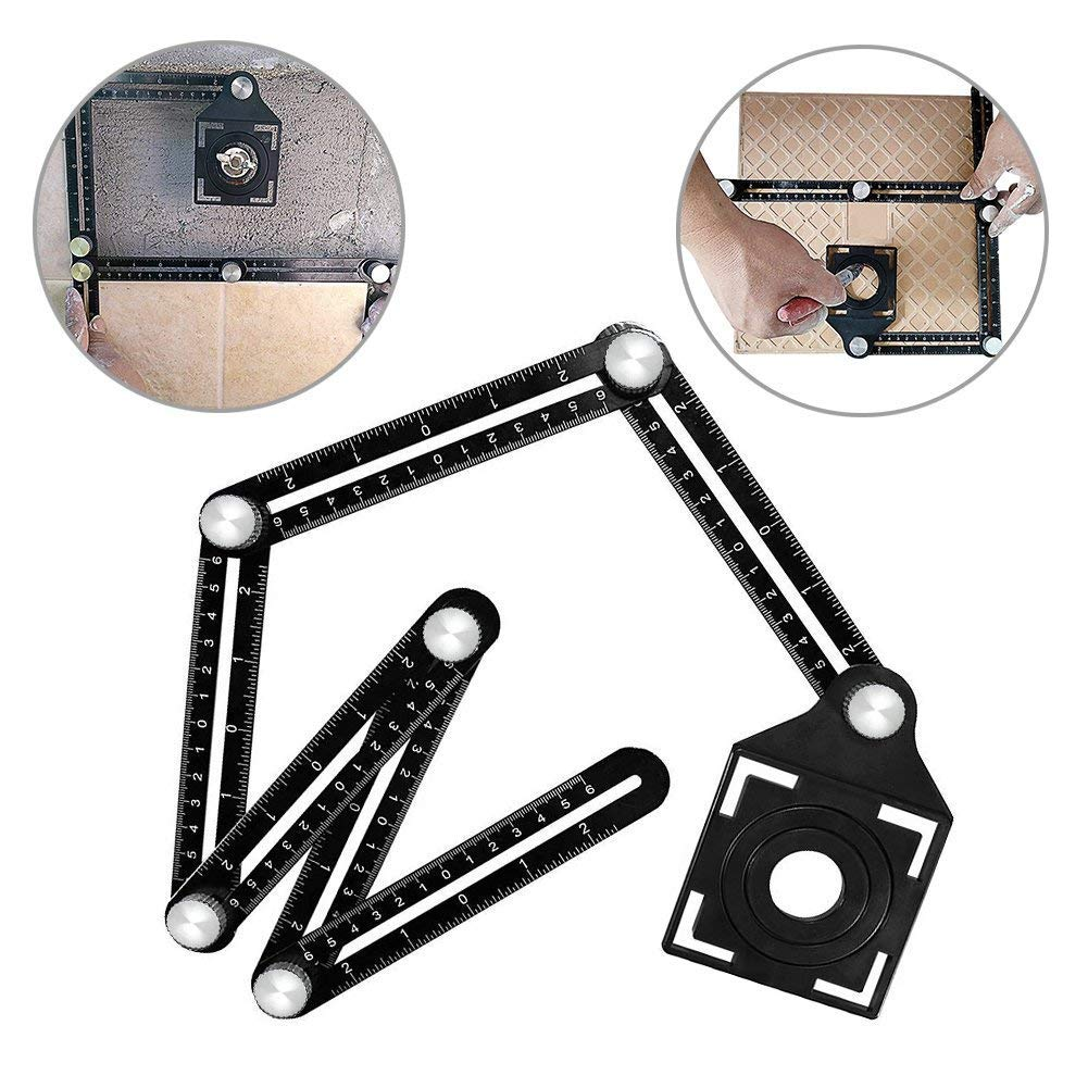 Muzerdo Six-Sided Aluminum Alloy Angle Measuring Tool