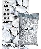 Ciottoli di marmo Bianco Carrara - sacco da 25 kg - sassi pietre giardino (40/60)