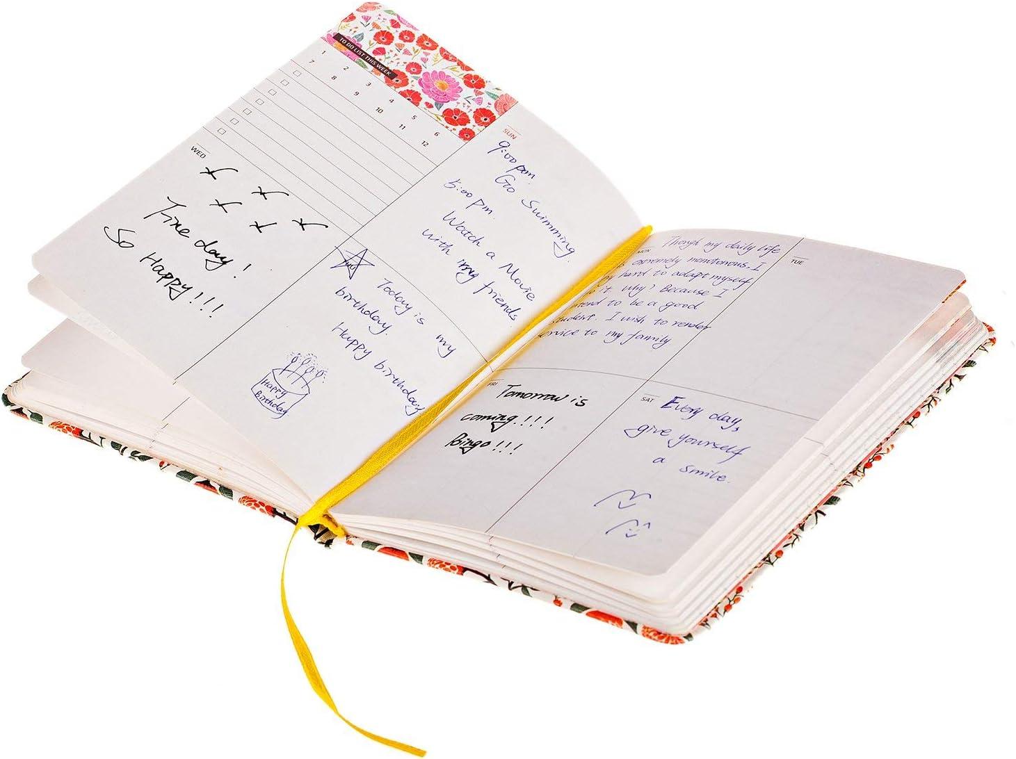 AidShunN Daily Planner Calendar Cuaderno del Diario Programa Semanal Mensual