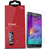iCarez Samsung Galaxy Note 4 Premium [HD Clear] Screen Protector [ Unique Hinge Install Method With Kits ] 3-Pack