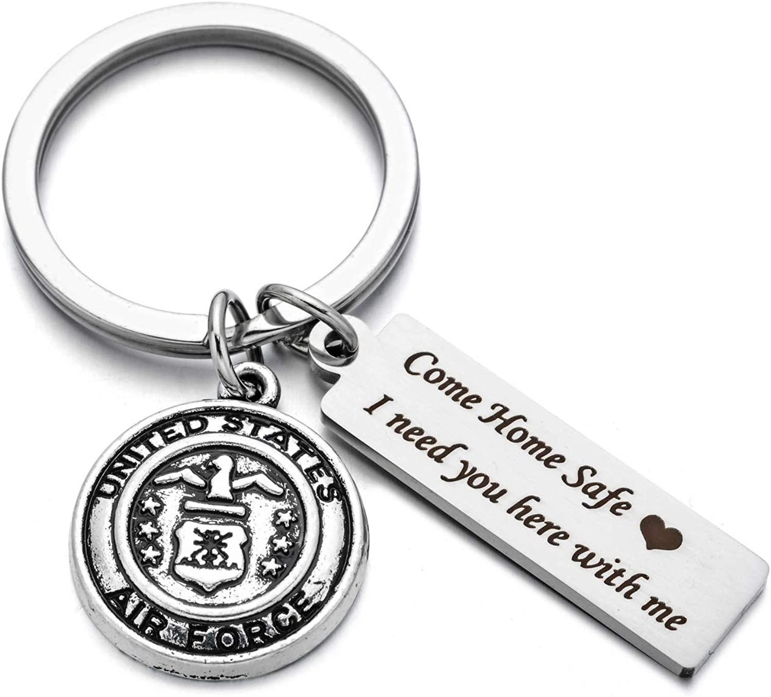 Drive Safe Charms Keychain Come Home Safe I Need You Here With Me Dad Husband Boyfriend Gift