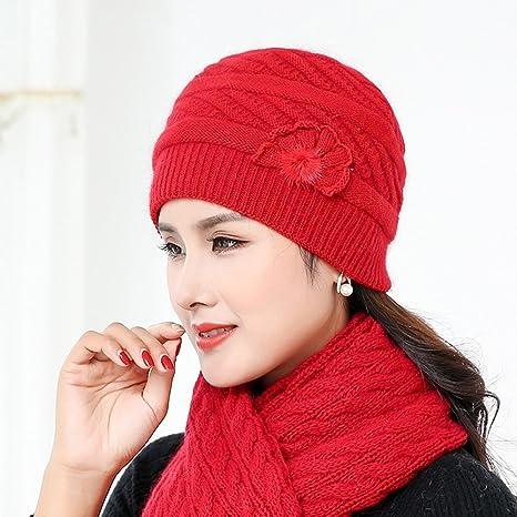 777163debb89e ZHANGRONG- Boinas Sombrero Tejido Invierno Mantener Caliente Bufanda  Conjunto Frío Lengüeta Sombrero 7 Colores -
