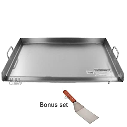 Amazon.com : Griddle Grill Stainless Steel Plancha BBQ Heavy Duty Comal Outdoor Stove New : Garden & Outdoor
