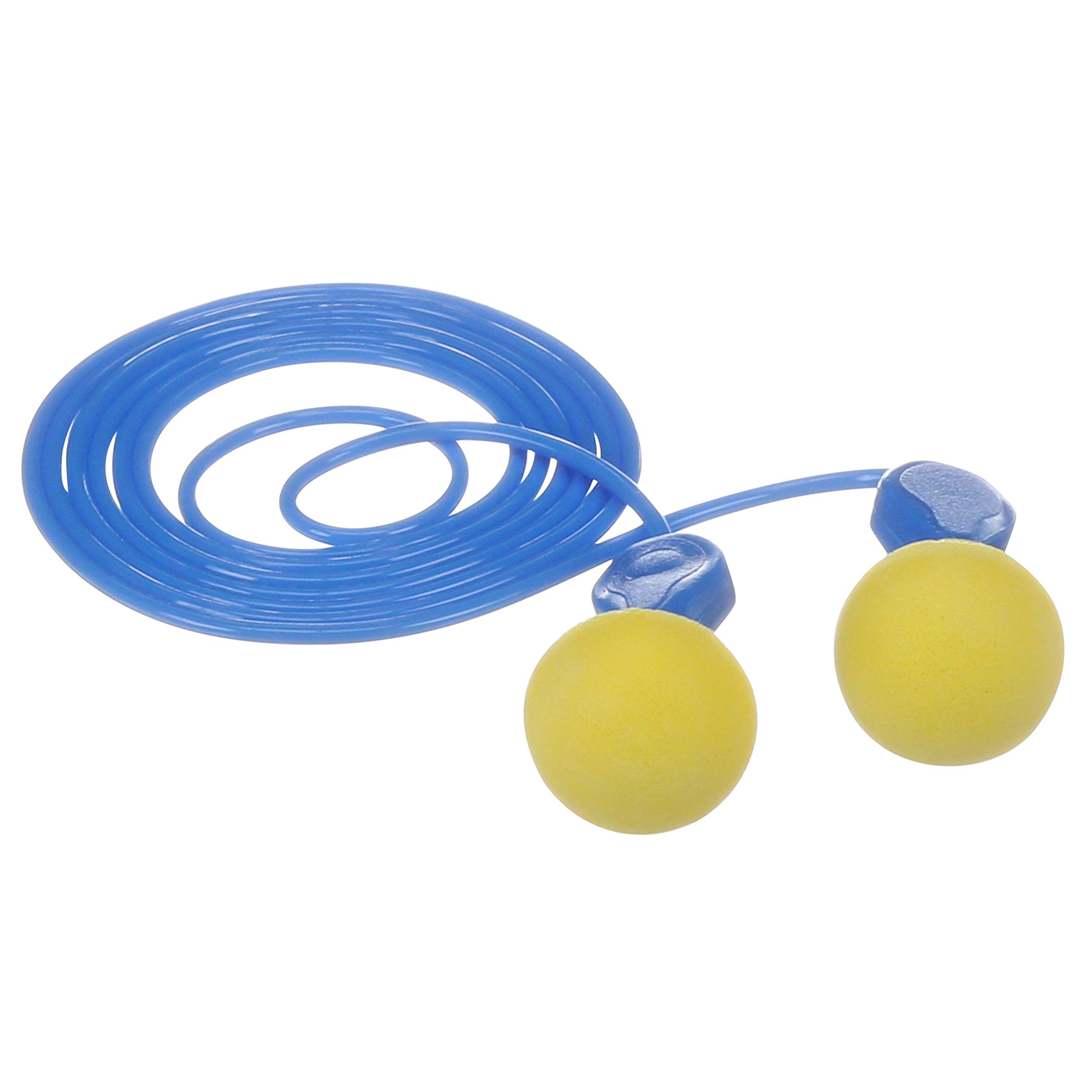 3M E-A-R Express Pod Plugs Corded Earplugs, Hearing Conservation Blue Grips 311-1114 in Pillow Pack (Pack of 100) by 3M Personal Protective Equipment (Image #1)