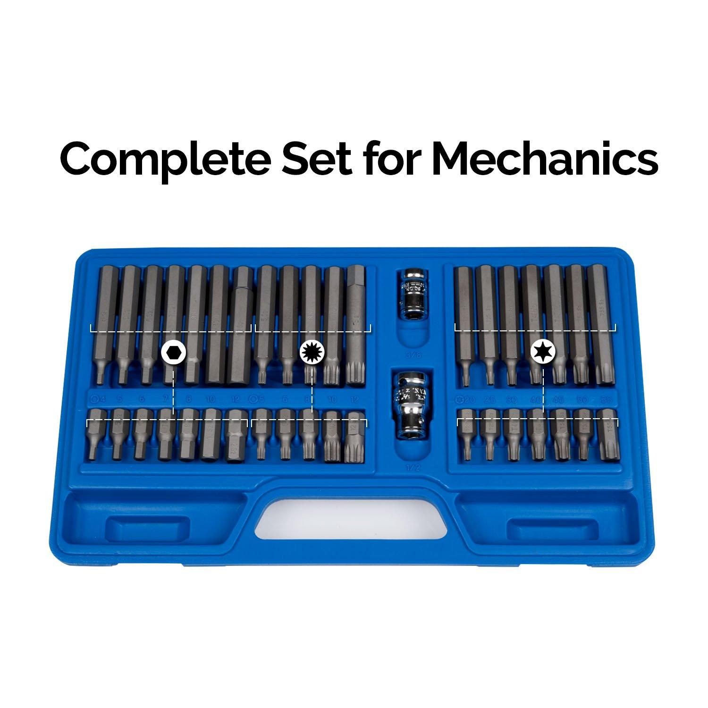 Neiko 10280B Combination Hex, Torx, and XZN Triple Square Driver Socket Bit Set | 40-Piece Set by Neiko (Image #4)