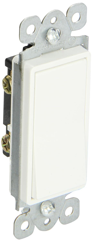 Tork NSI LCS115M Momenatry Rocker Switch, Decorator, 120/277, 15A, SPST, White