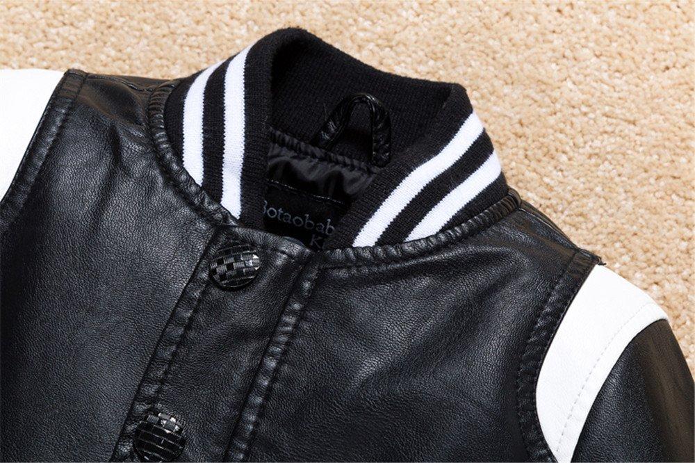 1794b88e9 Budermmy Boys Leather Motorcycle Pilot Jackets Toddler Coats
