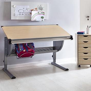 Finebuy Design Kinderschreibtisch Michi Holz 120 X 60 Cm Buche