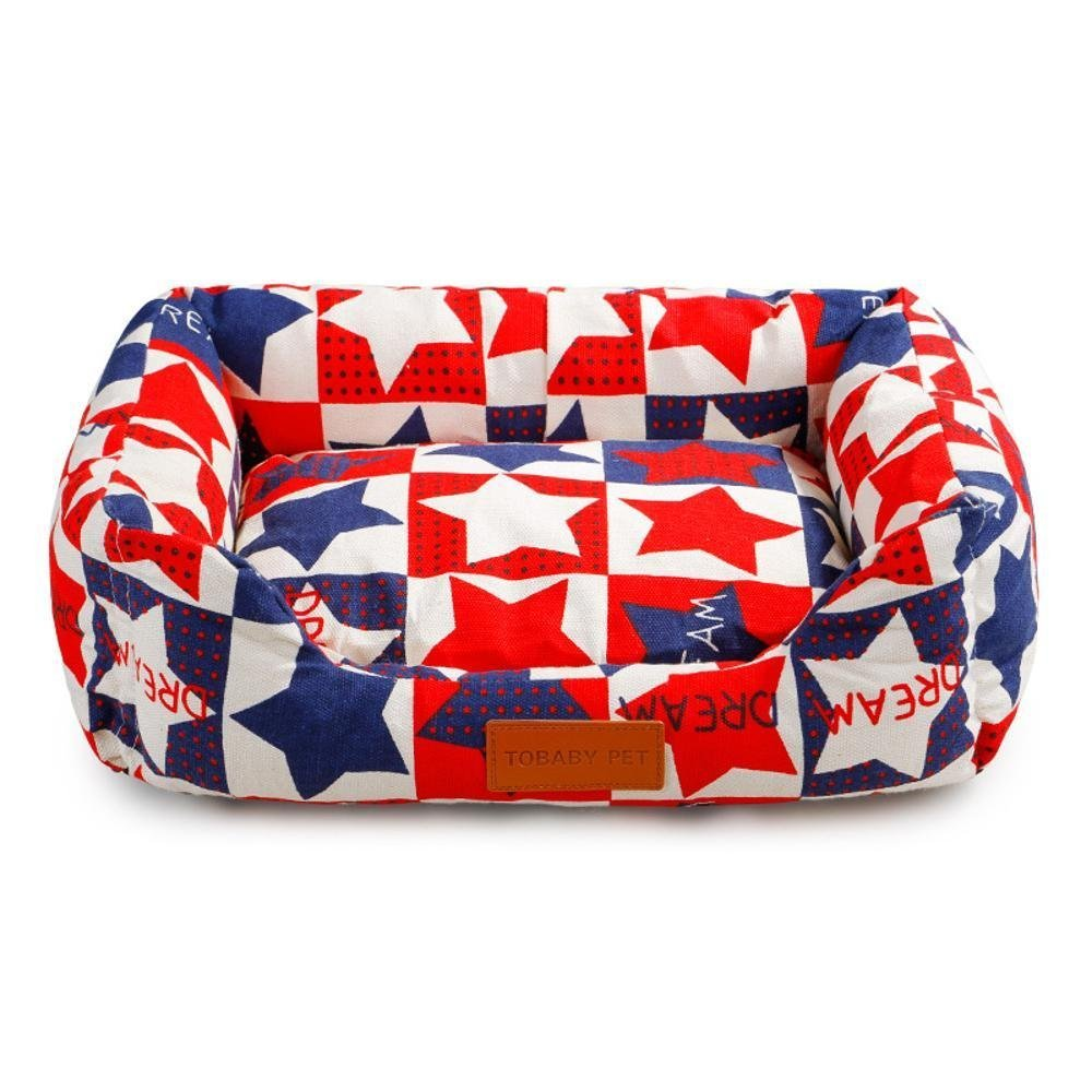 E M E M WUTOLUO Pet Bolster Dog Bed Comfort Pet Supplies Kennel Pet nest mat Teddy Bed dog cushion cat Nest General (color   E, Size   M)