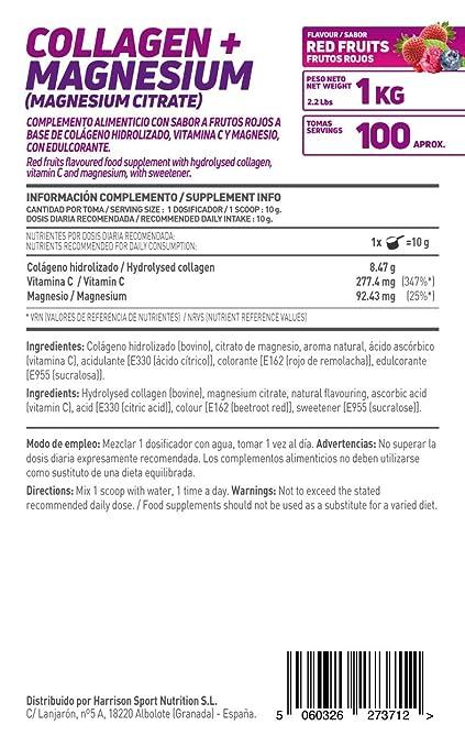 HSN Essentials - Colágeno Hidrolizado + Magnesio 2.0 - Sabor Frutos Rojos - En Polvo 1000 g: Amazon.es: Salud y cuidado personal