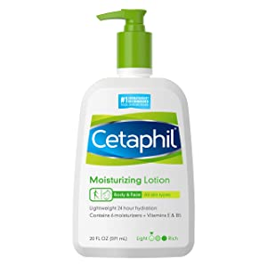 Cetaphil Moisturizing Lotion   20 Fl Oz   Instant & Long Lasting 24 Hour Hydrating Moisturizer for All Skin Types   Nourishing Lotion for Sensitive Skin   Non-Greasy   Dermatologist Recommended Brand
