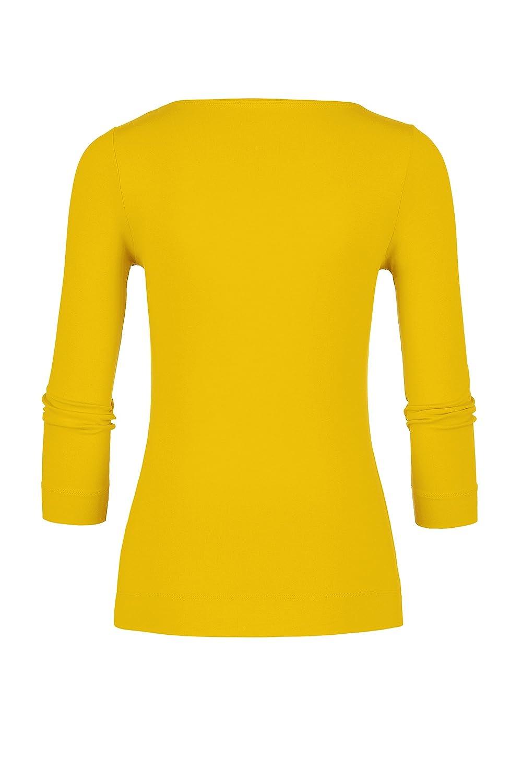 Claudia Sträter Damen T shirt,Yellow,34: : Bekleidung