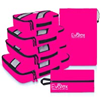 Packing Cubes | Travel Packing Cubes, 6pc Set -New (Pink) | Packing Cubes for Travel |Luggage (Pink)