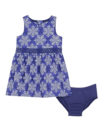 aacab4ced Nautica Baby-Girls Poplin Bandana Print Dress Casual Dress - Blue -:  Amazon.co.uk: Clothing