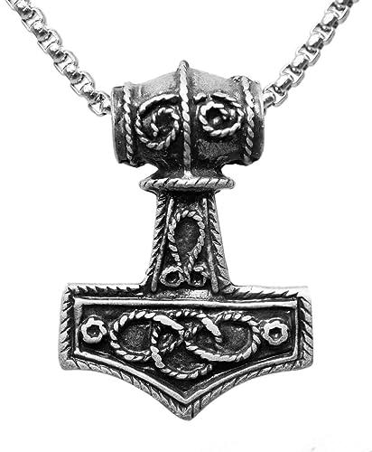 Exoticdream Mjolnir Thors Hammer Norse Viking Odin Loki Pewter Pendant Xv