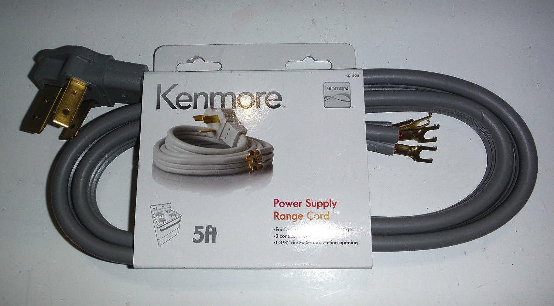Amazon.com: Kenmore 3-prong 5\' Round Range Cord: Home Improvement