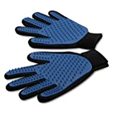 wangstar Pet Grooming Gloves,Best Cat Dog Brush Brush,Deshedding Glove for Gentle and Efficient,Set of 2 -Right and left (Blue-2)