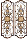 Uttermost Micayla Metal Panels in Distresed Chestnut Brown (Set of 2)