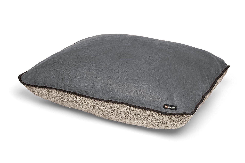Clay Medium Clay Medium Big Shrimpy Bogo Faux Suede with Putty Berber Fleece Bed, Medium, Clay