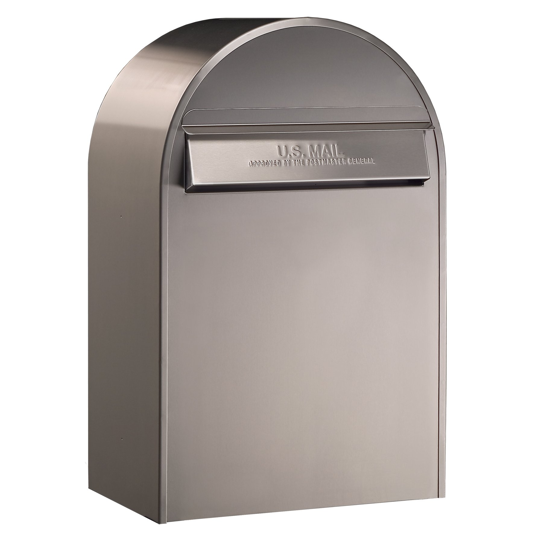 Bobi USPS Wall Mount Mailbox, European Modern Rear Access Lockable Mailbox with Cylinder Lock, 2 Keys Included   Heavy Duty Stainless Steel Letter Drop Box (Classic B-Stainless Steel)