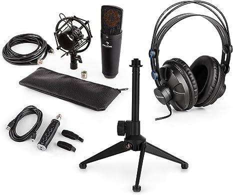 auna MIC-920B Set de micrófonos estudio V2 - Micrófono condensador ...