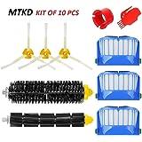 MTKD Kit Cepillos Repuestos para iRobot Roomba Serie 600 - Kit de 10 Piezas Accesorios(Cepillos Lateral, Filtros, Cepillo de Cerda y etc..) para Aspirador Robot.