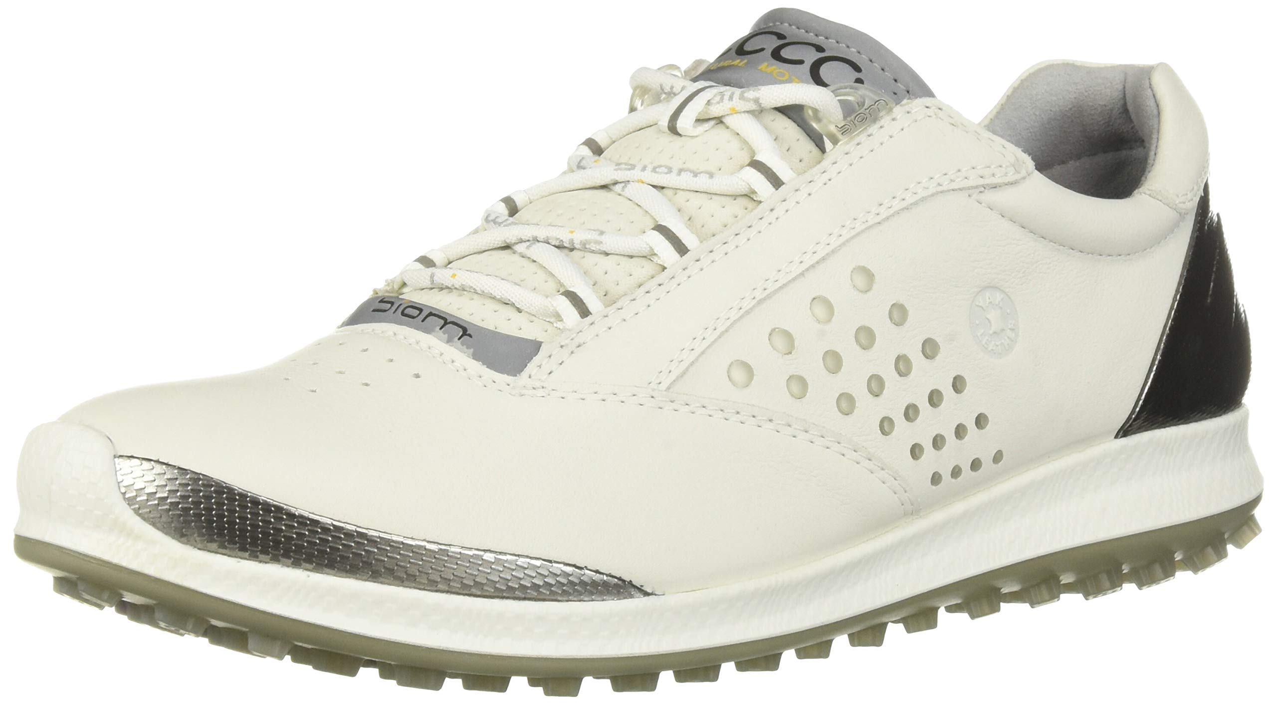 ECCO Women's Biom Hybrid 2 Golf Shoe, White Yak Leather, 8 M US by ECCO