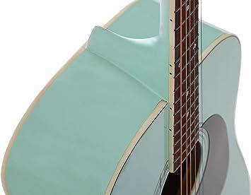 Stretton Payne Dreadnought - Guitarra acústica (tamaño completo, acero D1), color verde: Amazon.es: Instrumentos musicales