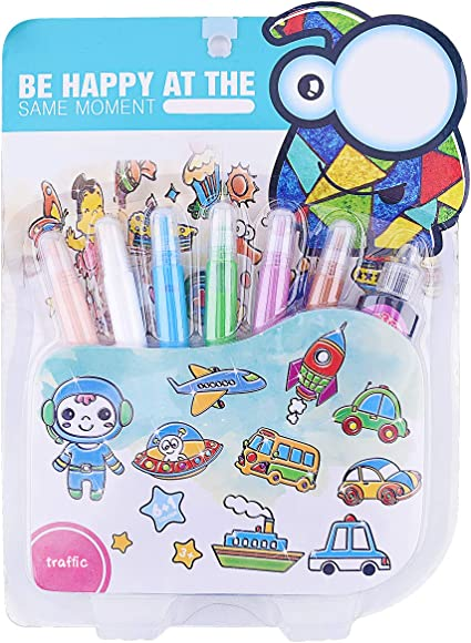 Educational Cartoon Pattern DIY Toys Coloring Paper For Kids Painting Books