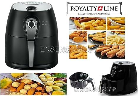Freidora Profesional de aire caliente sin aceite y grasas Royalty Line 1400 W