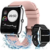 YOMYM Sports Smart Watch, Sport Watch Waterproof Touch Screen IP67 Activity Monitors with Heart Rate and Blood Pressure…