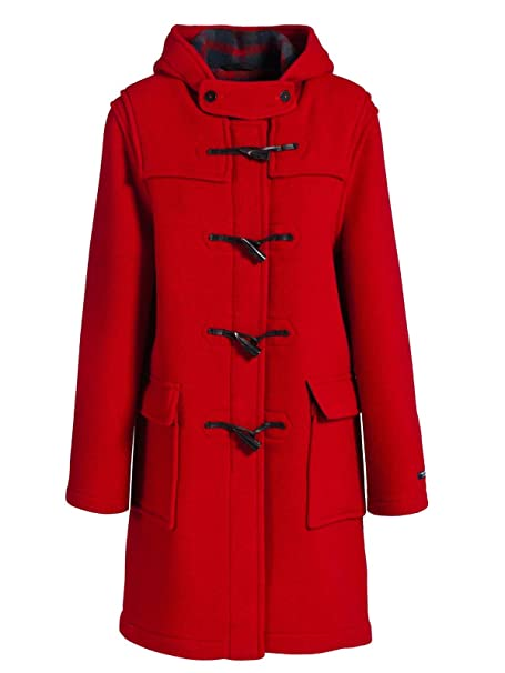 Duffle Coat mujer lana Made in France dalmard Marino Liverpool rojo 34