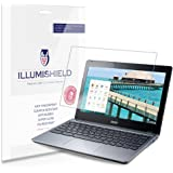 iLLumiShield - Acer Touchscreen Chromebook 11 C720P Screen Protectors with Anti-Bubble/Anti-Fingerprint - 2-Pack + Lifetime Replacements