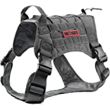 OneTigris Tactical Service Dog Vest – Water-resistant Comfortable Military Patrol K9 Dog Harness with Handle (Large, Ranger Green)