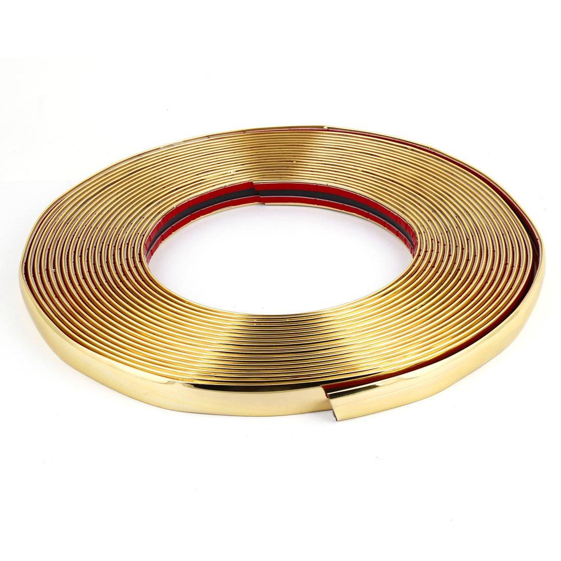 15m x 18mm Gold Tone Car Decoration Soft Chrome Moulding Trim Strip