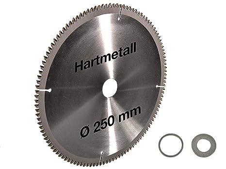 Kreissägeblatt für Metall 250 Sägeblatt Sägen von Stahl Baustahl Aluminium Blech