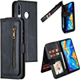 Snow Color Leather Wallet Case for Huawei P30 Lite/nova 4e with Stand Feature Shockproof Flip, Card Holder Case Cover…