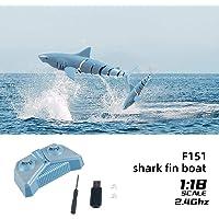 Mini Mando a Distancia de Juguete eléctrico RC tiburón para Nadar en el Agua, 2,4 GHz, 4 vías, operación electrónica, baño, Juguete Submarino, simulación submarina, Agua de tiburón, Juguete