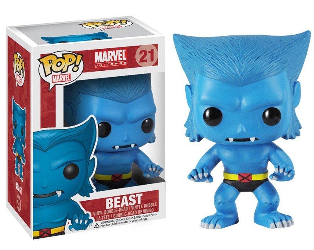 Includes Compatible Pop Box Protector Case Vinyl Figure Beast Funko Pop Marvel: X-Men
