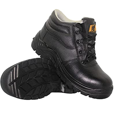 New Mens Leather Safety Work Midsole Boots Leather Steel Toe Cap Sizes 3-16  UK ef67e26dd10