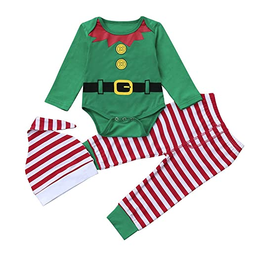 Amazon.com  Clearance 3Pcs Christmas Gifts Outfits Set for Baby Boys Girls 5760bca14