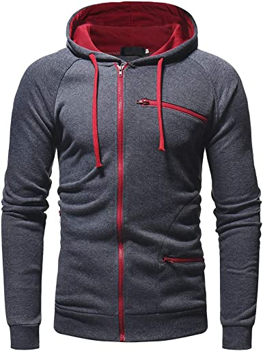 Men/'s Winter Zip Sweater Hoodie Hooded Warm Coat Jacket Sweatshirt Tops Outwear