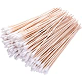Long Cotton Swabs, 6 Inch 200 Pieces Applicator Single Tip with Wooden Handle, Accessory For Gun Cleaning, Jewelry…